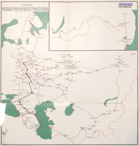 Diagram of the secret communications system for the special train traveling between Moscow and Baku. 1943. RGVA
