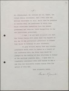 Memorandum from Franklin D. Roosevelt to Joseph Stalin on the Polish government. 6 February 1945. RGASPI
